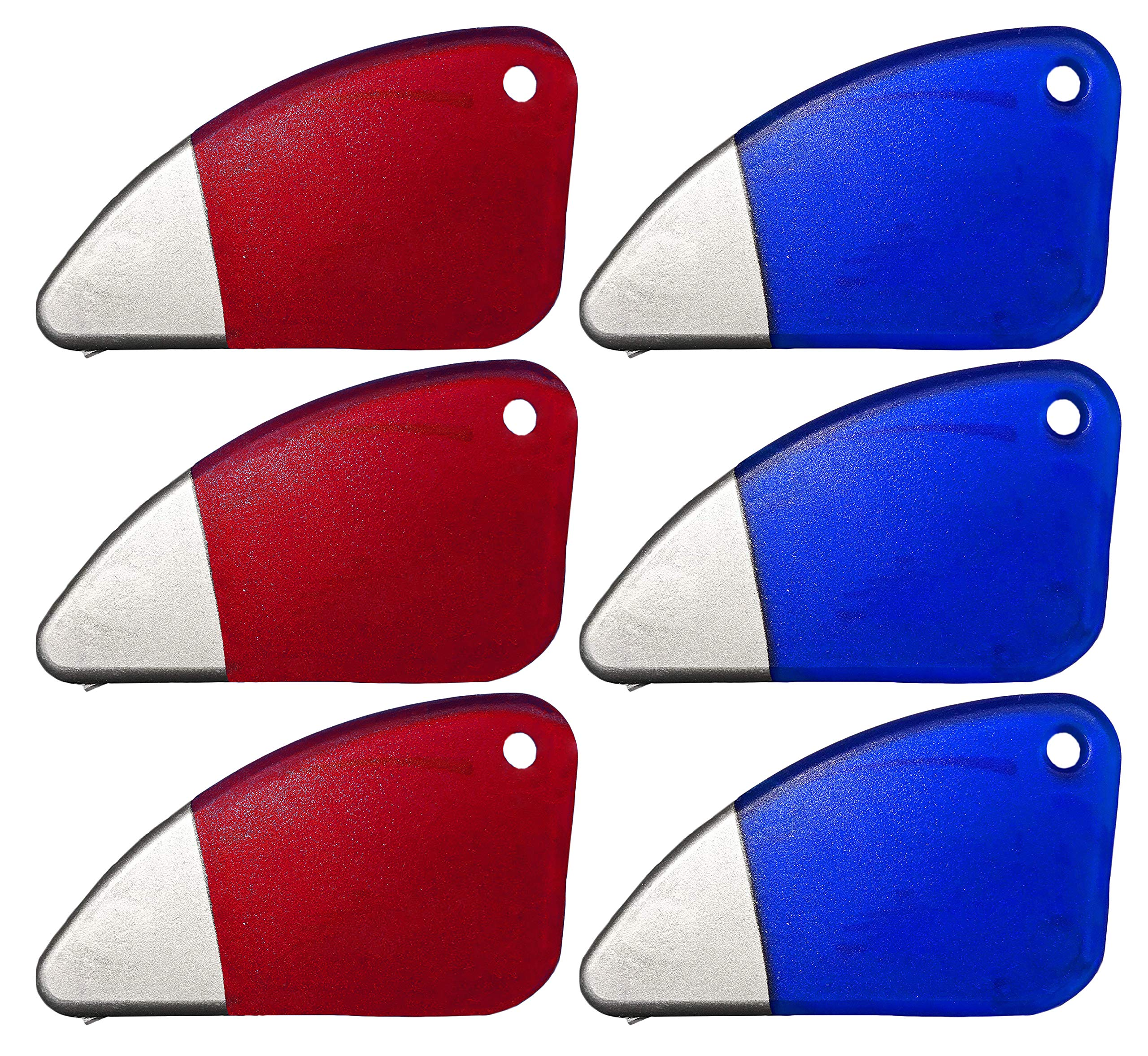 Set of 6 Magnetic Package Opener and Cutting Tools! Safe Ceramic Blade, Finger Friendly Safety Slicer