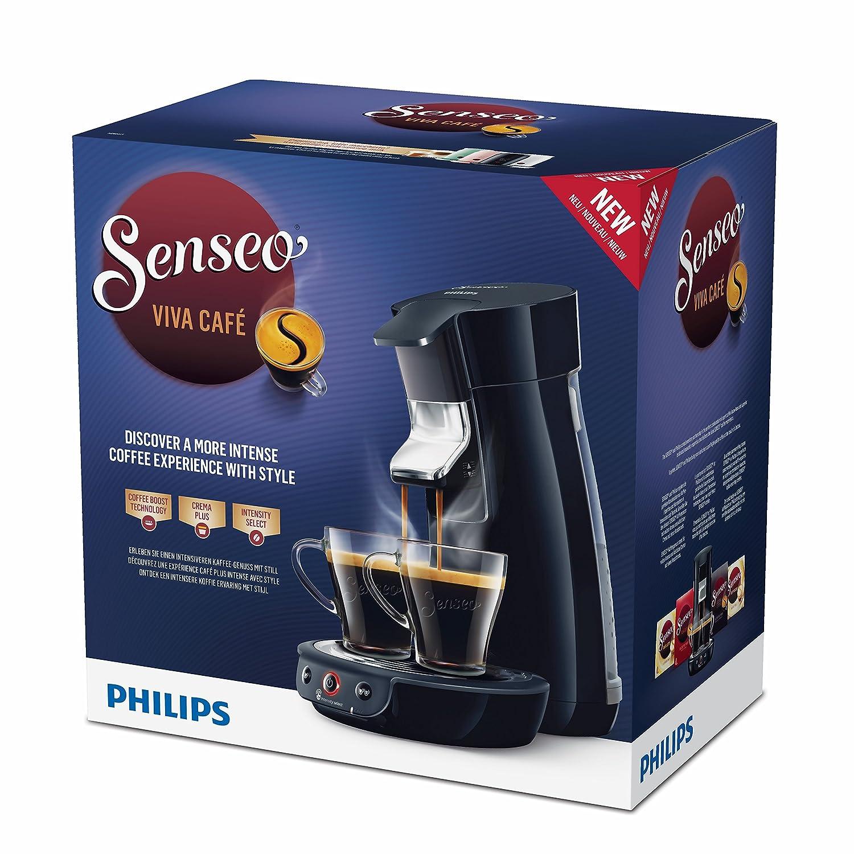 Senseo Viva Café HD6563/61 - Cafetera (Independiente, Máquina de café en cápsulas, 0,9 L, Dosis de café, 1450 W, Negro): Amazon.es: Hogar