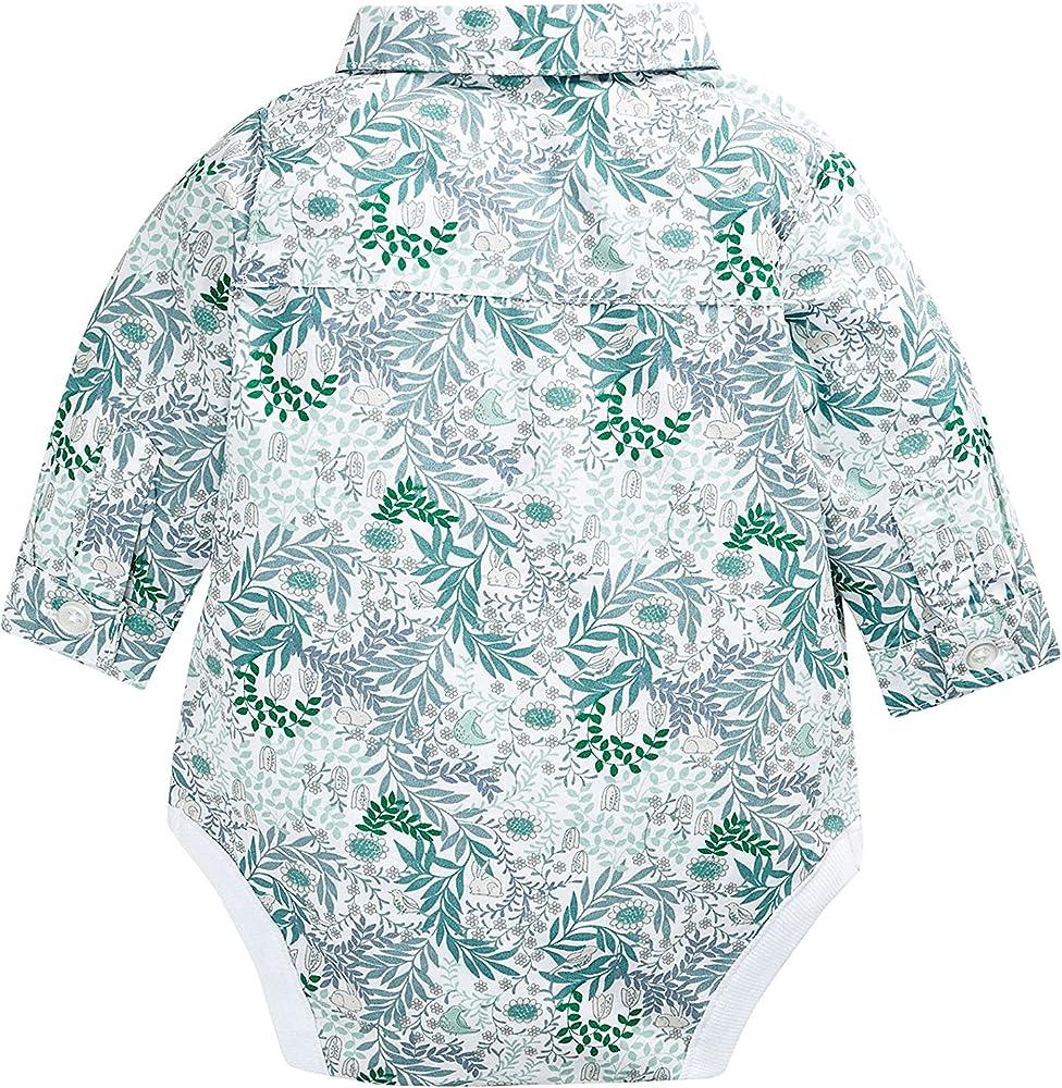 next Bebé Niño Body Estilo Camisa Flores con Pajarita Elegante Formal: Amazon.es: Ropa y accesorios