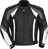 Cortech VRX Men's Textile Armored Motorcycle Jacket (Black/Gun/White, XX-Large)
