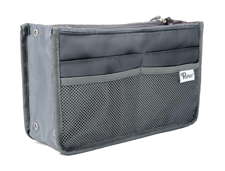Periea Handtaschen-Organiser Geldbeutel-Einsatz 12 Fächer - Chelsy (Blau, L)