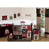 Sweet Jojo Designs 11-Piece Treasure Cove Pirate Red Black Ship Baby Boy Bedding Crib Set Without Bumper