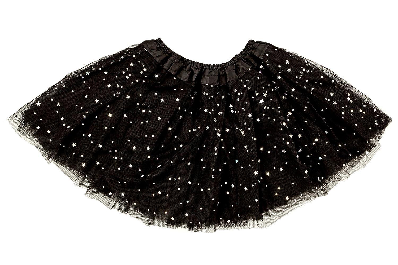 Dancina Tutu Infant Baby Ballerina Dress Up Sparkle Tulle Skirt 6-24 Months Black Glitter TUGL01BK12
