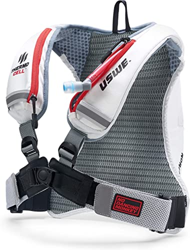 USWE Nordic 4L, Winter Hydration Pack – with 2.0L 70 oz Hydration Bladder, White. Freeze Protection with Thermo Cell Technology. Bounce Free with Adjustable NDM 4-Point Race Harness