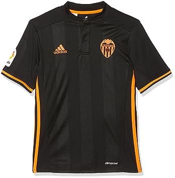adidas 2ª Equipación Valencia CF Camiseta Oficial, Niños, Negro, 9-10 años: Amazon.es: Deportes y aire libre