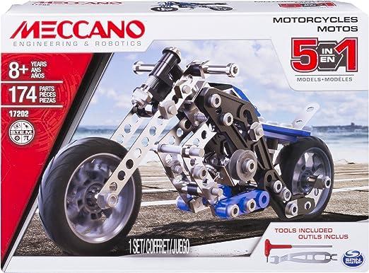 Meccano 5 Model Set Motorcycle Styles Vary