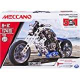 Meccano Erector, 5 in 1 Model Building Set - Motorcycles, 174 Pieces Ages 8 up, STEM Construction Education Toy