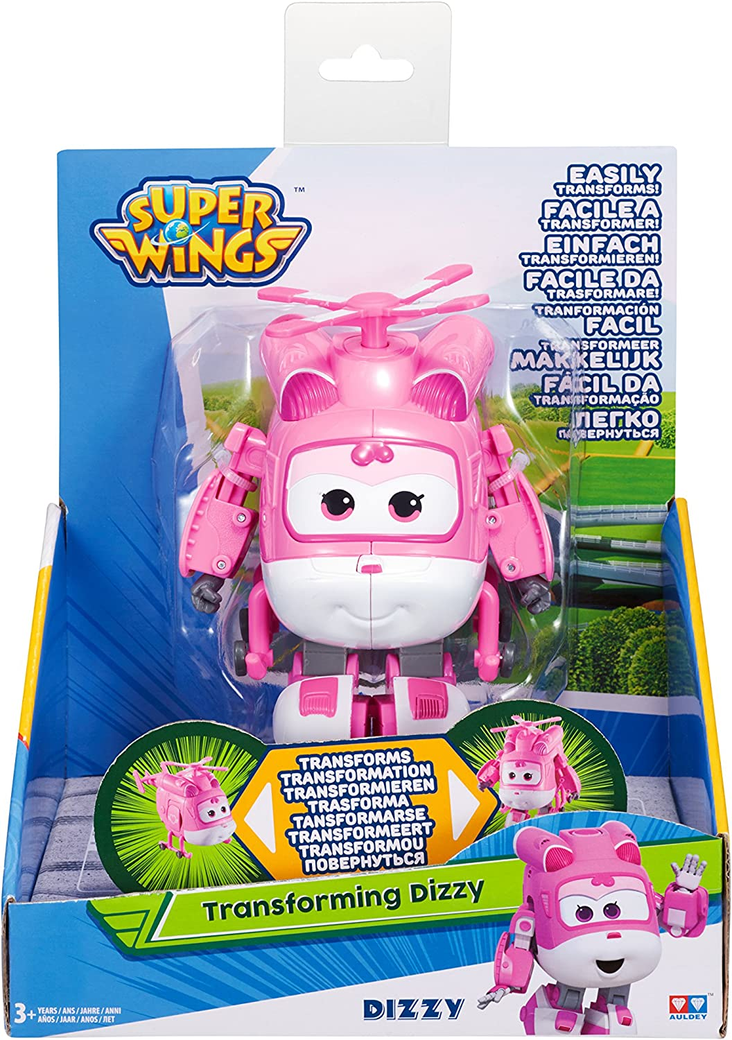 Dizzy Super Wings Medium Transform Figur 12 cm Flugzeug Transform a Bot