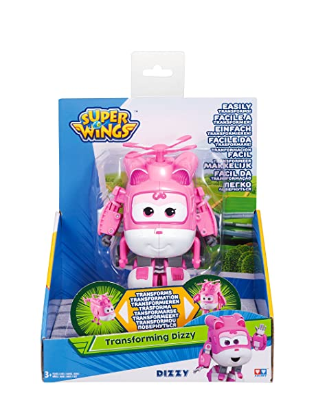 Amazoncom Super Wings Transforming Dizzy Toy Figure Helicopter