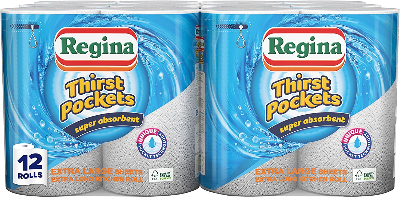 Regina Thirst Pockets Kitchen Towels Large