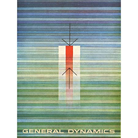 ADVERT GENERAL DYNAMICS ABSTRACT LINES COLOUR BLUE GREEN