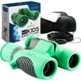Binoculars for kids by ThinkPeakToys - 8x21 Compact Shockproof Best for Hiking Camping Hunting Bird Watching Star Gazing SPY ExplorationGifts for Boys and Girls - Great Educational Learning