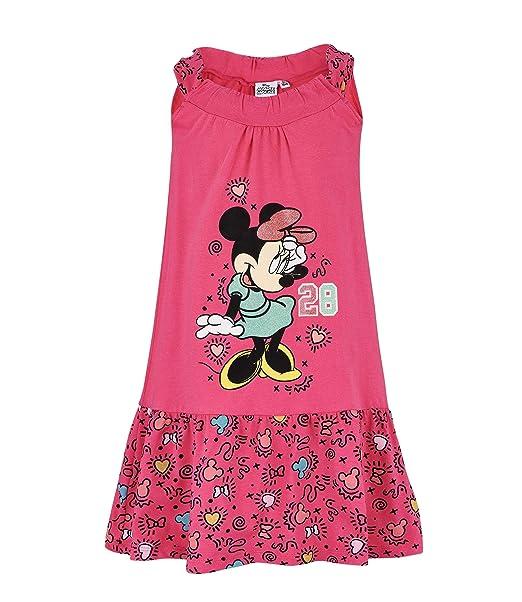 new style e43f6 b4b52 Disney Minnie Ragazze Vestito - Fucsia