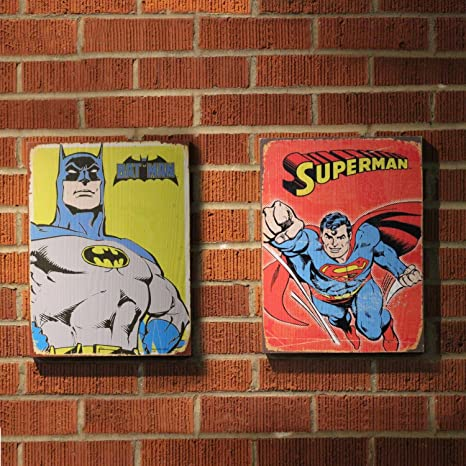 amazon com vintage parts 334054 retro dc superman batman wooden
