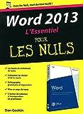 Word 2013 : L'Essentiel Pour les Nuls