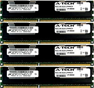 A-Tech Micron 16GB Kit 4X 4GB PC3-10600 1.5V for Dell PowerEdge M710hd M820 M915 A3721494 R410 R420 R515 A3721500 R520 R610 R620 A3721505 R715 R720 R720xd Snpp9rn2c/8g R810 R815 A2626072 Memory RAM