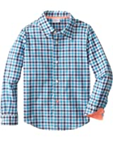 Egg by Susan Lazar Little Boys' Long Sleeve Button Down Shirt