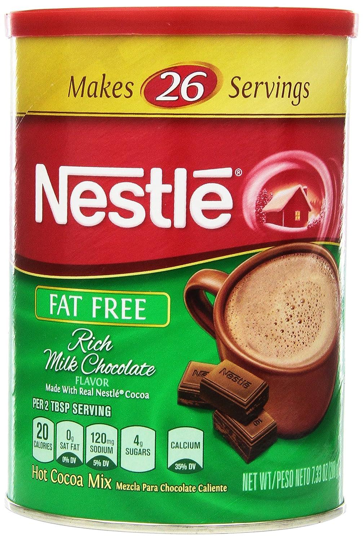 Amazon.com : Nestle Hot Cocoa Mix, Fat Free, 7.33-Ounce Canisters ...