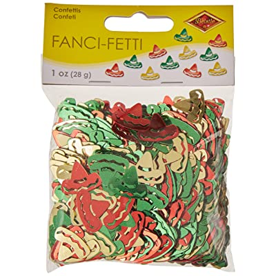 Fanci-Fetti Sombreros (red, gold, green) Party Accessory (1 count) (1 Oz/Pkg): Kitchen & Dining