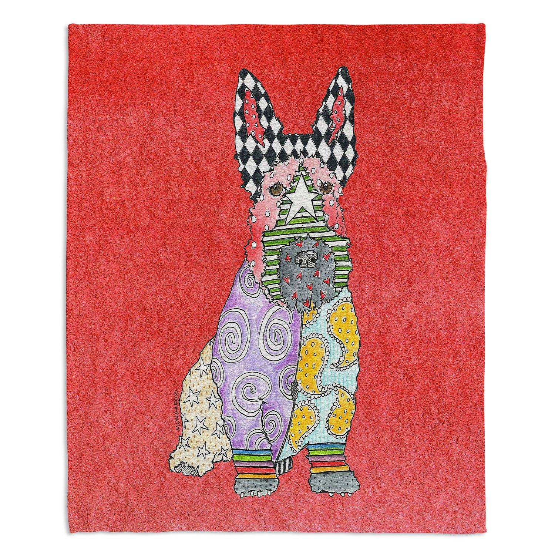 ブランケットウルトラソフトFuzzy 4サイズホーム装飾寝室ソファスローブランケットダイアノウチェデザインズ – Artist Marley Ungaro – Scottish Terrier Watermelon Medium 60