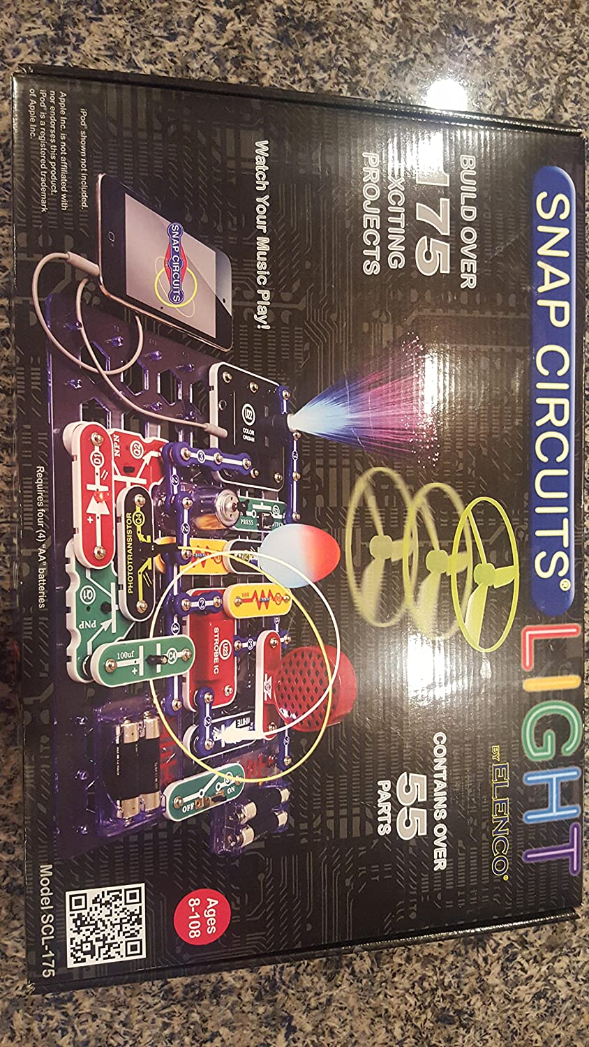 Elenco Snap Circuits Light Kit With Ac Adapter Set Buy Green Alternative Energy Online At Low Toys Games