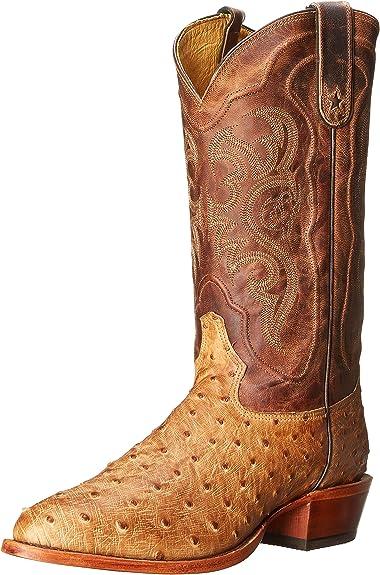 Amazon Com Tony Lama Men S Antique Tan Vintage Fq Ostrich Western Boot Western