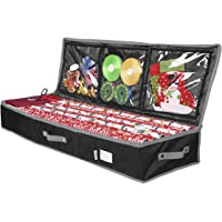 """Primode Gift Wrap Storage Organizer for 40 Inch Wrapping Paper, Ribbon and Bows, 41""""x 14""""x 6 Wrap Storage Box Container…"""