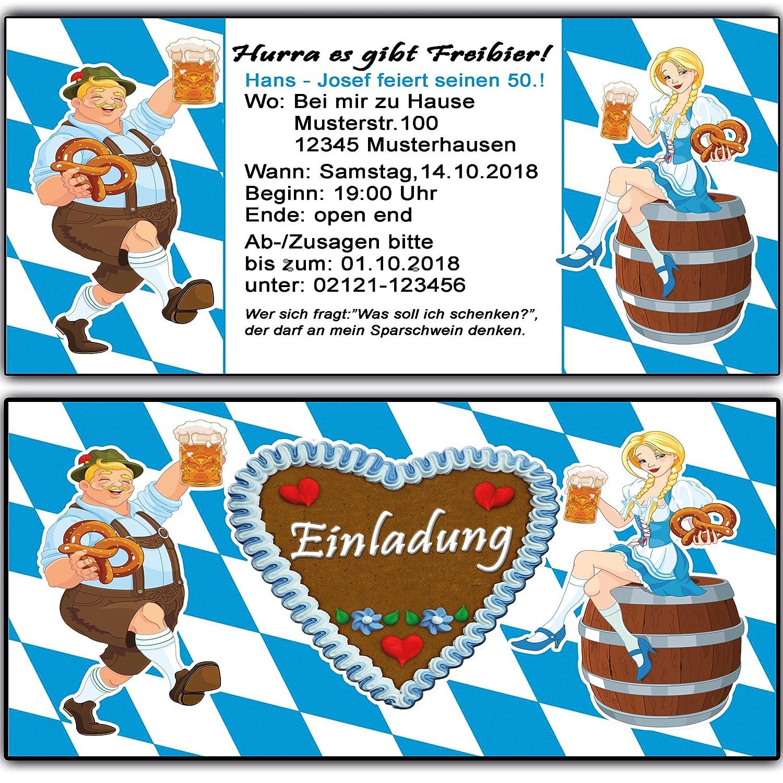Einladungskarten zum Geburtstag Oktoberfest Bier Frühschoppen Einladung