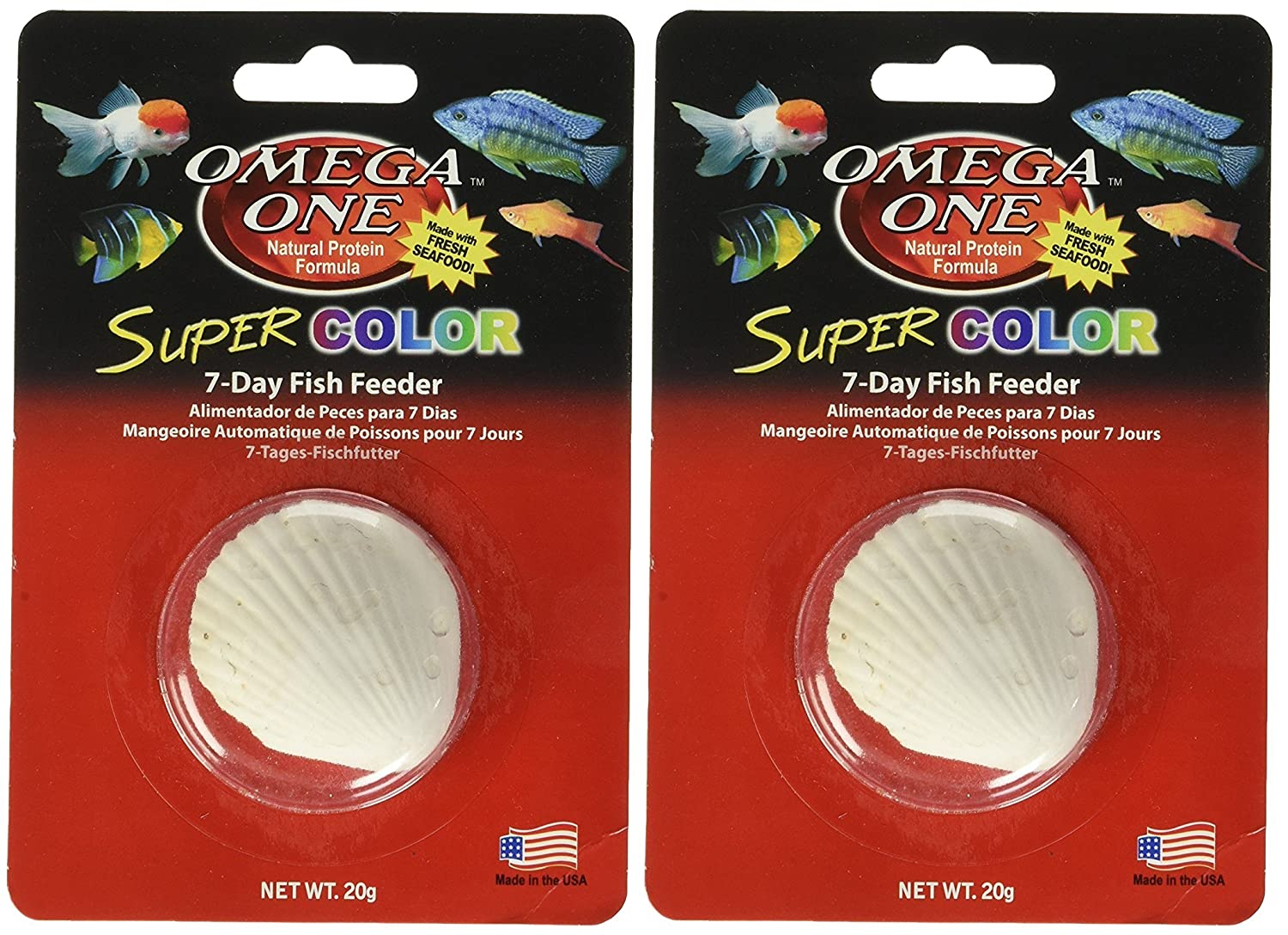 Amazon.com : Omega One Super Color 7-Day Vacation Fish Feeders (2 Feeders) : Pet Supplies