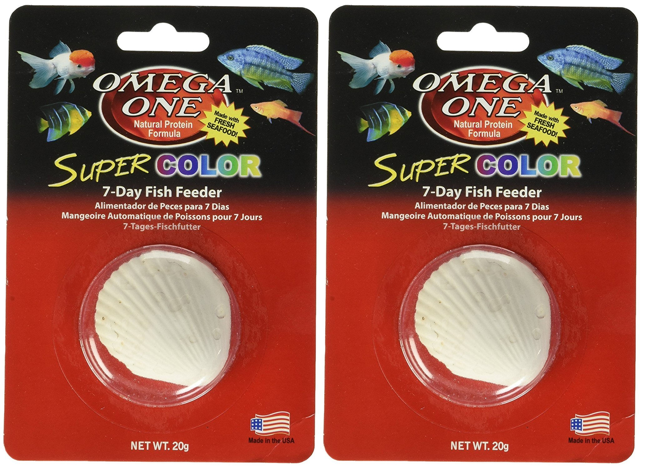 Omega One Super Color 7-Day Vacation Fish Feeders