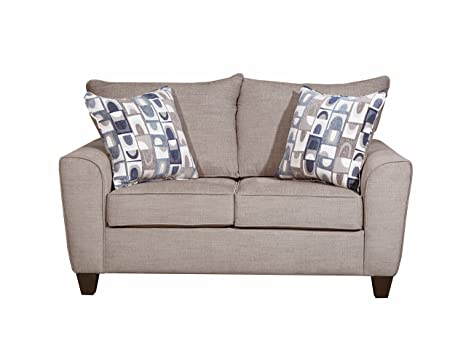 Groovy Amazon Com Simmons Upholstery Loveseat Alamo Gray Kitchen Caraccident5 Cool Chair Designs And Ideas Caraccident5Info