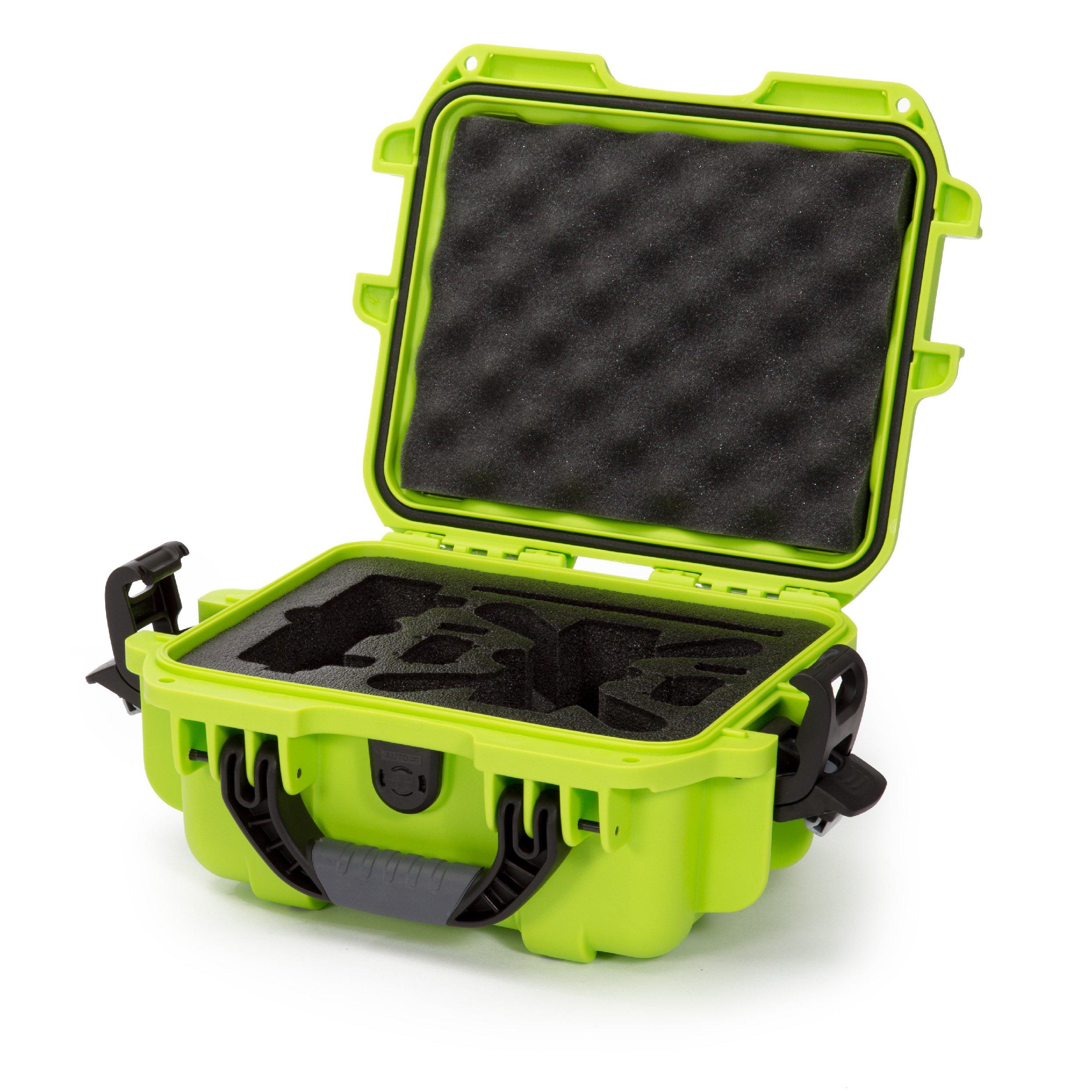 Nanuk 905 Waterproof Hard Drone Case with Custom Foam Insert for DJI Spark – Lime