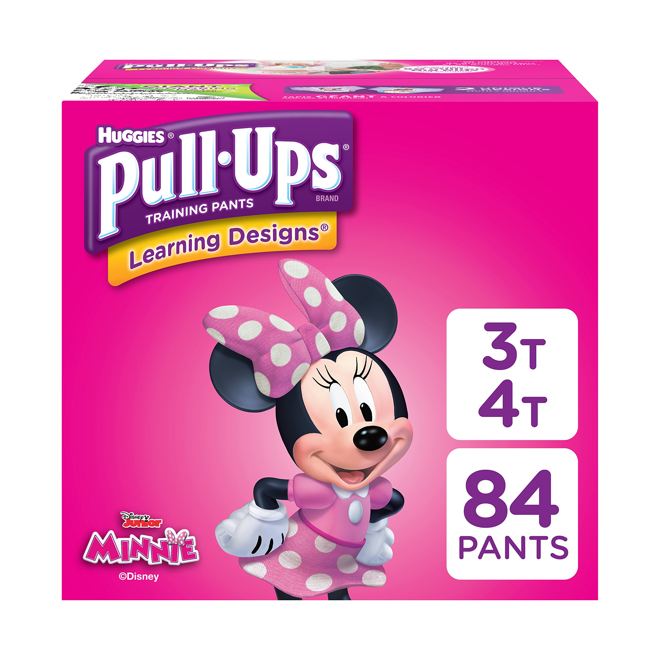 Huggies  Pull-Ups Learning Designs Potty Training Pants for Girls, 3T-4T (32-40 lb.), 84 Ct. (Packaging May Vary)