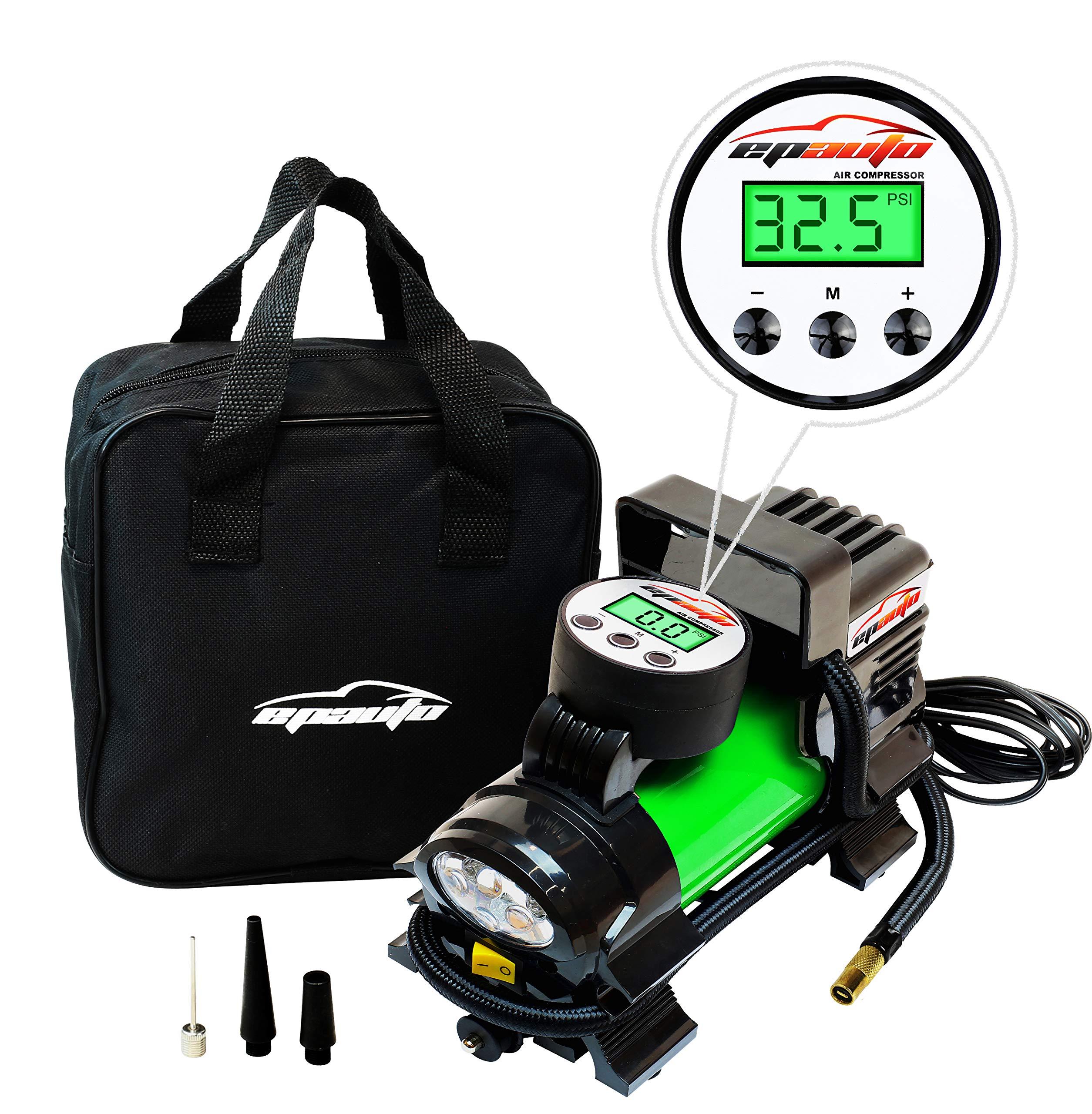 EPAuto 12V DC Portable Air Compressor Pump, Digital Tire Inflator by EPAuto (Image #2)