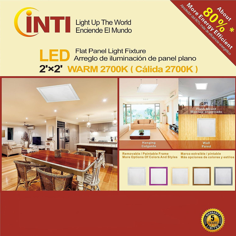 2 X2 Led Flat Panel Light Fixture Warm 2700k 60watt 110 277v Com