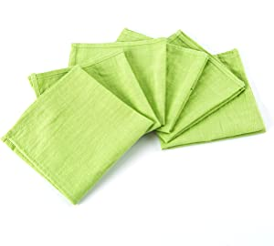 Cotton Napkin Set of 6, Natural Cotton Cloth Napkins Jean Blue, Wedding Napkins, 12x12 inch Size