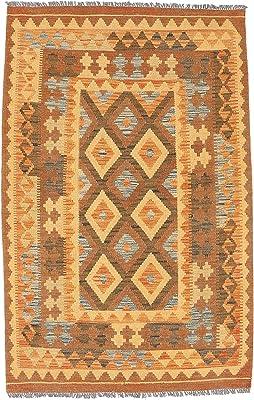 "Kilim Afghan Old style rug 3'2""x5'1"" (97x155 cm) Oriental Carpet"