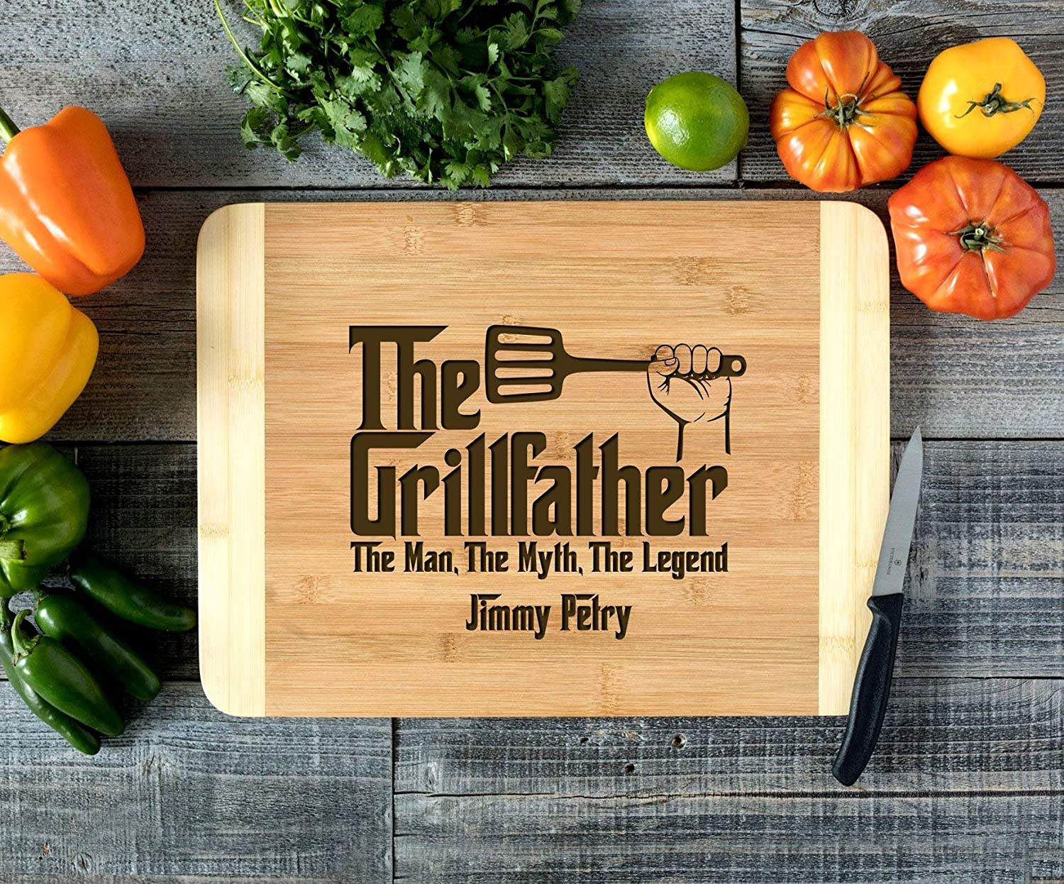 Personalized Cutting Board Engraved Cutting Board HDS Grillfather