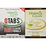 Herbal Clean Bundle - 2 Items Fast Detox (1) Qtabs & (1) Master Tea W/ Creatine Tablets By - For Ultimate Quick Emergency Detoxification + Pre Detox And Post Detox With Master Tea To Get Absolutely Clean Today - Detoxify Safe With Herbal All Natural Ingredients by Herbal Clean