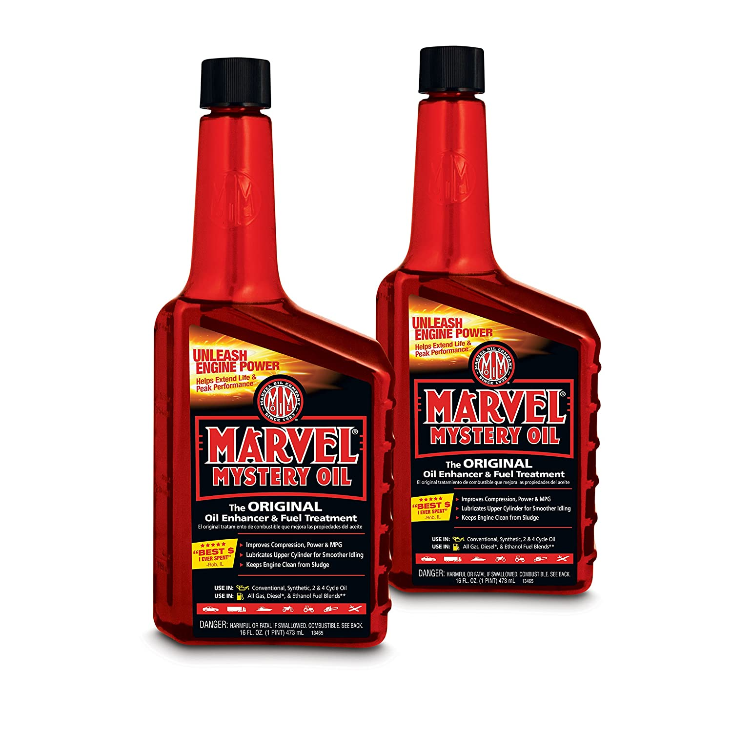 3. Marvel Mystery Oil 50721 Red MM12R Mystery Oil, 2 Pack (16 oz), 32. Fluid_Ounces
