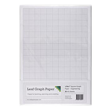 a3 graph paper 1 8 inch 0 125 squared engineering 30 loose lead