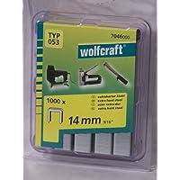 Wolfcraft 1000 Klammern breit, X-Harter Stahl Typ 53 14 mm 7046000