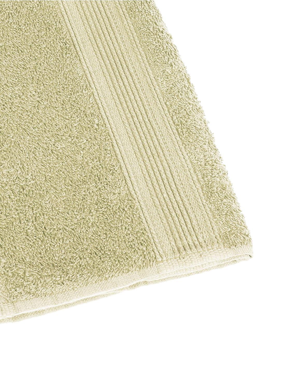 Naturel Lot de 4 Coton Basatex Lot de 4 Serviettes en /éponge 100/% Coton 50 x 100 cm