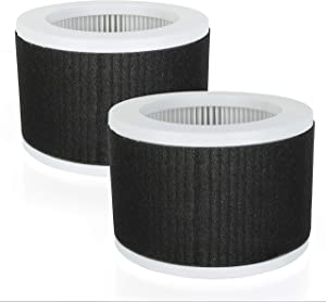 Flintar True HEPA Replacement Filter, Compatible with KOIOS and MOOKA EPI810 True HEPA Air Purifier Air Cleaner, 3 Stage Filtration, 2-Pack
