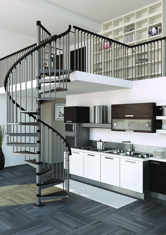 Mister Step Gamia Metal embarazada escalera interior de acero lacado.: Amazon.es: Bricolaje y herramientas