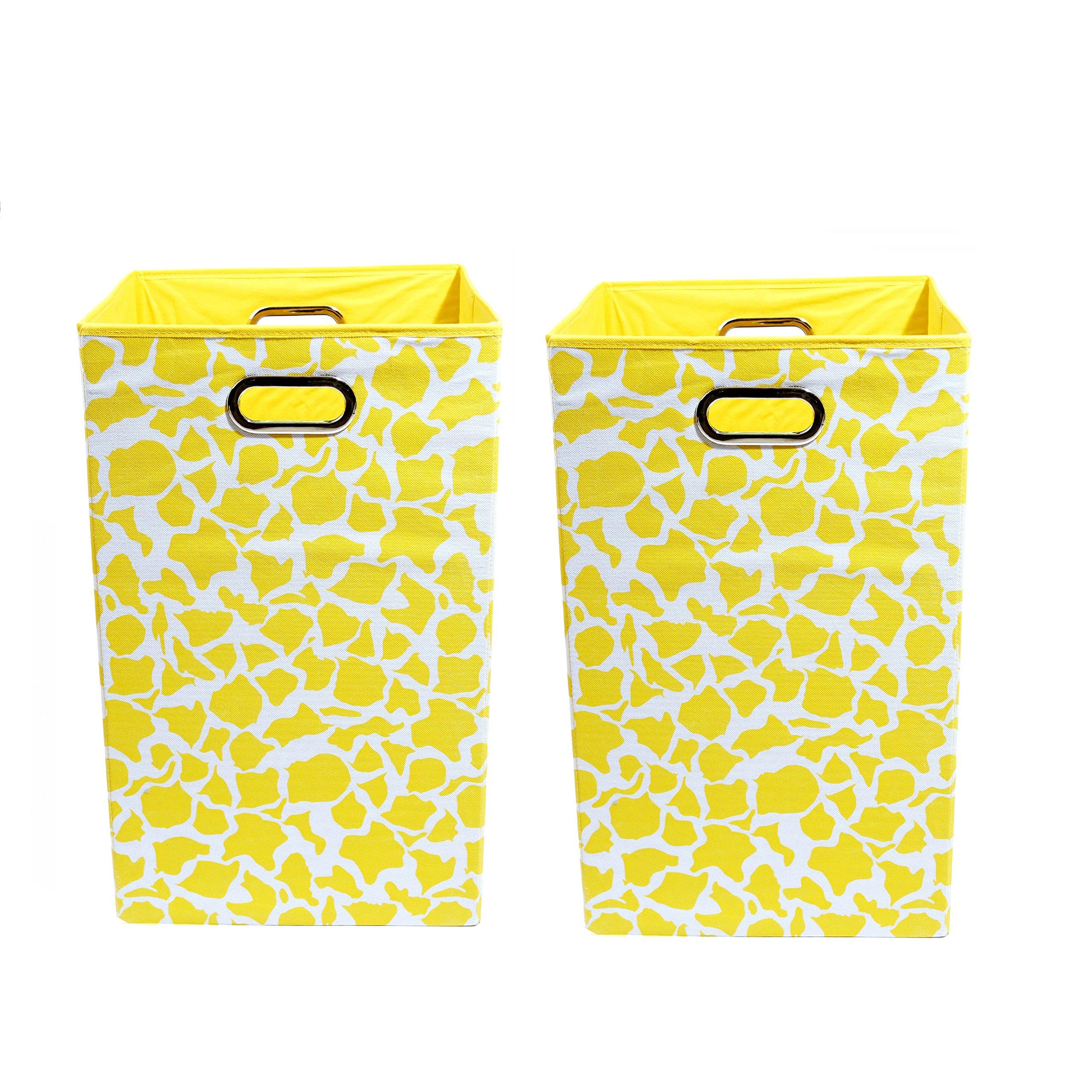 Modern Littles Organization Bundle-2 Laundry Bins, Rusty Giraffe