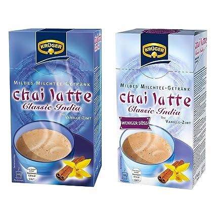 Krüger lote de Chai Latte, té de la leche de bebida y templado, vainilla