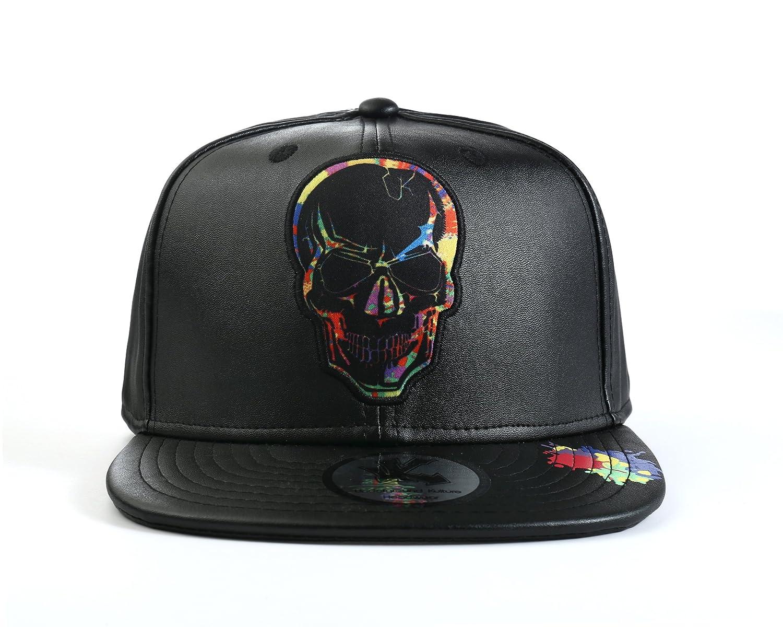 Underground Kulture Paint Collection Skull Snapback Baseball Cap Black