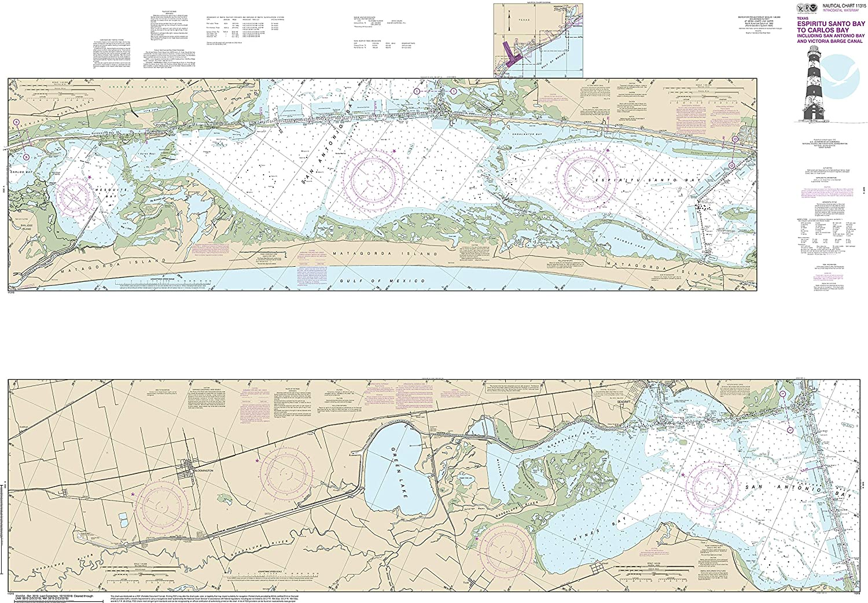 Amazon.com: Nautical Map Poster - Intracoastal Waterway ...