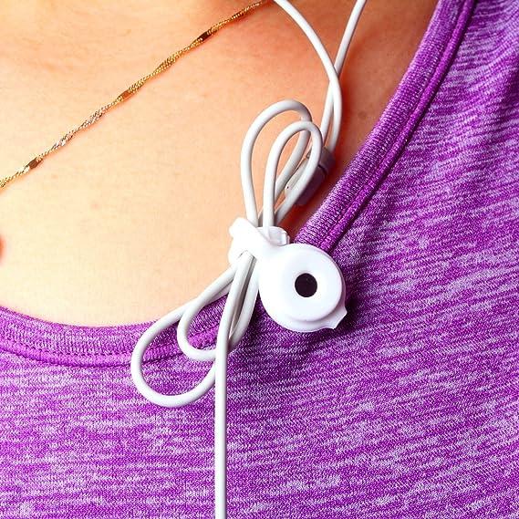 Clip para auriculares con cordón magnético fuerte para ...